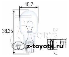 Автолампа, фонарь указателя поворота; задняя противотуманная фара; фара заднего хода Toyota  1.8-3.5