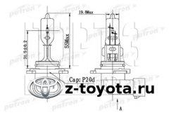 Автолампа, фара дальнего света, основная фара, противотуманная фара Toyota  1.3-4.7